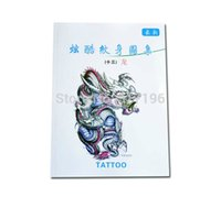 Wholesale New Chinese Tattoo Books Various Dragons Tattoo Designs Book with Matching Stencils for Transfer