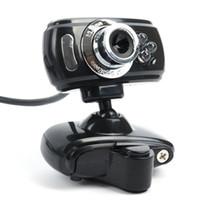 Wholesale USB Megapixel HD Webcams Web Cam Camera Microphone Mic LED PC Laptop Skype USB