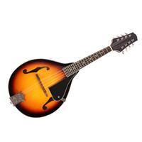 adjustable mandolin bridge - Professional String Basswood Sunburst Mandolin Musical Instrument with Rosewood Adjustable Bridge New Hot