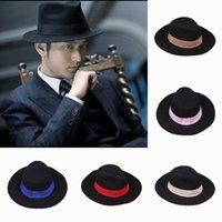 Wholesale Wide Brim Hats Michael Jackson Street Caps Unisex Vintage Derby Travel DJ Dance Hats Style Choose ENQ