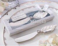 baby shower favor gift ideas - Bridal Shower favors box Leaf Chrome Spreader Baby Shower Favor Gift Ideas Wedding favours