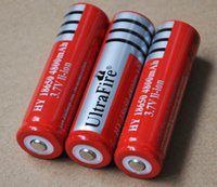 Wholesale Brand New riginal Rechargeable Batteries v mAh Lithium Li ion power Battery for Ultrafire Flashlight laptop