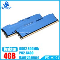 Wholesale Brand New DDR2 GB Kit x2GB PC2 MHz for Desktop PC DIMM Memory RAM PIN Compatible with AMD Intel Motherboard