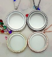 Wholesale 5pcs mm mix color memory living magnet glass floating locket good for necklace pendant free chain Z1077