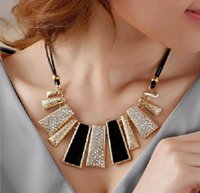 Wholesale Europe and the United States exaggerate sautoir Irregular geometrical necklace USES rope chain of clavicle Sweater chain