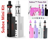 Wholesale Kanger SuBox Mini Nano Starter Kits clone w OCC RBA Coil Sub tank mini atomizer KBOX Variable Wattage Box Mods E cigs Kangertech Vape