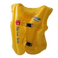 Wholesale 2014 Brand Outdoor sports Children s Swimming Life Vest New Summer Kids Inflatable Swimming Pool Vest