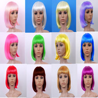 Wholesale Children s Performing Beautiful Pale Color Mix Wig Bobo Head Watching Anime Wig