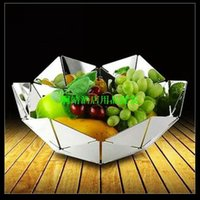 Wholesale Stainless steel watercubic fashion basket plate fruit plate order lt no track