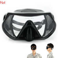 Wholesale Professional Diving Mask For Spearfishing Scuba Gear Black Swimming Masks Oculos Scuba Diving Snorkeling Water Sports Silicone Mask TK1071