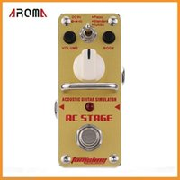 acoustic simulator pedal - AROMA AAS AC Stage Acoustic Guitar Simulator Mini Single Electric Guitar Effect Pedal with True Bypass