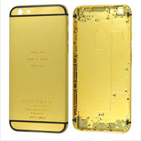Wholesale New K Dubai Gold Plating back Housing cover Skin for iPhone s plus Limited Edition Golden Battery Housing