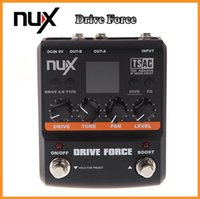 Wholesale NUX Guitar Drive Force Modeling Stomp Simulator Electric Effect Effectors Pedals Models Color Screen Musical Instrument Parts DHL