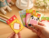 Wholesale Writing Note Pad Notes Memo Notebook Zoo Animal Designs Sticky Notes Carton New Arrival