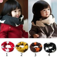 Wholesale Children fashion Candy color scarf new boy girl Korean fashion Stars Candy color Pure cotton scarf B