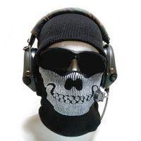 Wholesale New Fashion Winter Ski Warm Wool Knit Skull Masks Face Mask Motorcycle Bike Ghost Scarf for Men and Women