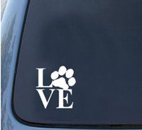 pvc door - Innovate Funny Love And Cute Cat Footprint Decals For Cars For Back Window Sticker FC93