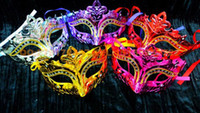 Wholesale 2015 new arrive Woman Mask Halloween Masquerade Masks Mardi Gras Venetian Dance Party Face gold shining plated Mask D149