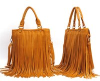 Wholesale 2015 High Quality Fringe Convertible Crossbody bag Fold Over Fringe Tote cross body purses Free Fipping