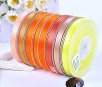 Wholesale 100 yards Double faced Satin ribbon Yellow Orange Gold Group II Group inch mm