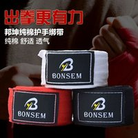 Wholesale 1 Pair width cm length cm cotton bandage strap boxing gloves sanda muay thai bandage mma boxeo