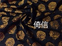 american apparel fabric - European and American retro jacquard fabric roses thick autumn and winter floral print DIY fabric apparel fabrics