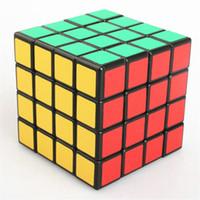 magic tricks toy - 2015 New x4x4 Stickers Rubix Cube fast mm Puzzle Speed Rubic Magic Tricks Cube Kids Educational Game Toys cube x4