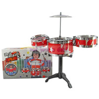 baby rocking machine - Hot Selling Mini Children Kid Toddler Band Jazz Drum Rock Set Xmas Gift Music Toy Percussion Red Color