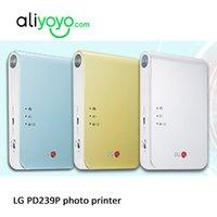 venda por atacado bluetooth printer-LG PD239P Bluetooth sem fio de bolso Photo Printer impressora sem tinta bolso Photo para Android ou IOS telefone Bluetooth ou o papel ZINK NFC