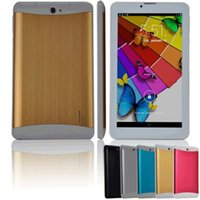 Wholesale New quot Phablet Style Android GB RAM GB ROM Tablet Built in g GPS Bluetooth Sim Card Dual Camera Flashlight Tablet PC