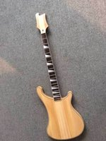bass guitar kits - Newest new unfinished String Electric Bass Kit Guitar through body in wooden no paint top quality
