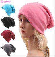 baggy beanie hat - Unisex Women Men Caps Hip Hop Knit Hats Fall Winter Casual Cotton Loose Caps Fashion Baggy hats