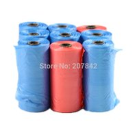 Wholesale rolls Dog Cat Biodegradable Waste Pooper Scooper Bags Pet Trash Supplies Color Randomly