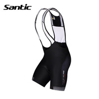 bicycle padded shorts - Santic Mens Cycling Shorts Cycling Jersey Anti sweat Quick Dry Bicycle Sports Clothes Bib Shorts D Padded MTB Bike Shorts