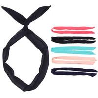Cheap 2014 New Fashion Korean Style Rabbit ear Headscarf Headbands For Women Hair Accessories# FL-H212