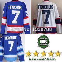 Wholesale Sale Free Shipping Worldwide - Free Shipping Winnipeg Jersey Worldwide, Hot Sale Vintage Throwback Ice Hockey Jerseys #7 Keith Tkachuk Home Blue White Shirt