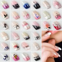 acrylic finger nails - Hot Sales In A Box As A Sets Full Nail French Tips Natural Finger False Fake Art Cover Manicure tx243