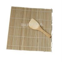 Wholesale 2014 New HE Delicate Sushi Rolling Maker DIY Bamboo Rolling Mat with One Rice Paddle Sushi Tool EH