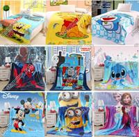 bedspreads throws - Cartoon Animal Baby Kid Toddler Child Infant Newborn Boy Girl Coral Fleece Mink Throw Blanket Bed Set Cover Quilt Comforter Sheet Bedspread