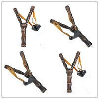 Wholesale New Arrive Bamboo Style Wood Wooden Sling Shot Toys Slingshot Bow Catapult Hunting