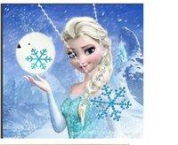 Wholesale Frozen necklace jewelry birthday gift Frozen Elsa Rhinestone Snowflake Pendant Necklace Womans jewelry ladys necklace Children Kids Jewelry