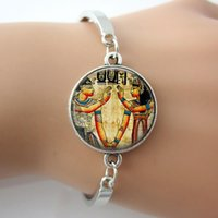ancient egyptian ring - Ancient Egyptian Bracelet Glass Picture Photo Charm Bangle Handcrafted Jewelry For Best Friends New Indian