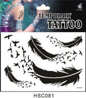 Wholesale Maike MH1987 Less than surface mail no tracking hsc081 product A variety of design one time Tattoo Stickers Feather