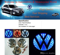 Wholesale 3D Waterproof Light Car Badge VW Volkswagen Logo LED Lamp Emblem Durable Car Sticker DIY Auto Decoration Diameter cm Car Sticker