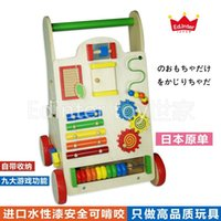 Wholesale ED INTER Wooden Walkers Trolleys Multi Function Baby Months