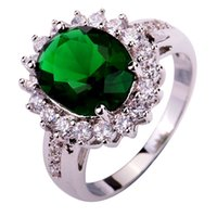 emerald ring - 2015 New Fashion Design Green Emerald Quartz Silver Ring