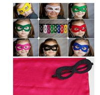 lots costume jewelry - freeshipping Children Halloween Cosplay Mask Party Masquerade Felt Decoration Mask Superhero Cape Performance Mask party pack