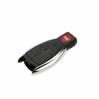 key covers - Remote Car Key Fob Case Keyless Fob Buttons for Mercedes Benz New Replacement Car Key Shell No Chip Uncut Blade Car Cover K1748