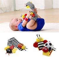 bee set designs - High Quality Baby Toy Socks Bell Design Cartoon Baby Toys Burt s Bees Trendy Wrist Rattle and Foot Socks AB032