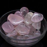 angels rocks - Natural pink crystal stone Ore luo dan gravel magnet large GRAVEL Rose Quartz Crystal Stone Rock Specimen Chip Healing Gem